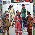 Simplicity Pattern # 8282 UNCUT Child Costume Native American Indian Size 3 4 5 6 7 8