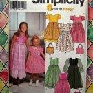 Simplicity Pattern # 9497 UNCUT Child Girls Dress Petticoat Size 3 4 5 6