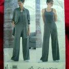 Vogue Pattern # 2185 1998 UNCUT Calvin Klein Misses Jacket Top Pants 18 20 22