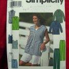 Simplicity Pattern # 8172 UNCUT Misses Top Pants / Shorts & Knit Tank Top Sizes 12 14 16