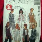 McCalls's Pattern # 8940 UNCUT Misses Vest Sizes XS Small Medium
