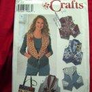 Simplicity Pattern # 7151 UNCUT Misses Vest & Tote Bag Size 12 14 16