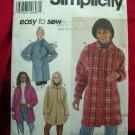 Simplicity Pattern # 7760 UNCUT Misses Car Coat / Jacket Sizes XS, Small and Medium