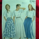 Simplicity NEW LOOK Pattern #6560 UNCUT Misses Skirt (Full) Size 8 10 12 14 16 18 20