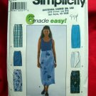Simplicity Pattern #8527 UNCUT Misses Straight Wrap Skirt Size 12 14 16