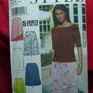 STYLE Pattern # 2981 UNCUT Misses Skirt 5 Designs Size 8 10 12 14 16 18