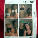 KWIK SEW Pattern #2037 UNCUT Misses Hair Accessories Headband Bows