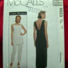 McCalls Pattern #8823 UNCUT Misses Unlined Dress, Lined Tunic and Lined Pants Size 14