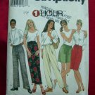 Simplicity Pattern # 8397 UNCUT Misses Pants, Shorts and Skirt  Size Large or XL