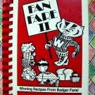 Vintage 1981 Wisconsin Cookbook ~ Fan Fare II Recipes For Badger Fans