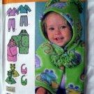 Simplicity Pattern # 4434 UNCUT Baby Clothes Blanket Wrap Bib Size XXS XS S M L