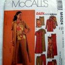 McCalls Pattern #4524 UNCUT Misses Miss Petite Jacket Duster Top Dress Pants Size 16 18 20 22