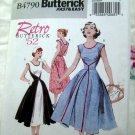 Retro 1952 Butterick Pattern # 4790 UNCUT Misses Wrap Dress Size 16 18 20 22