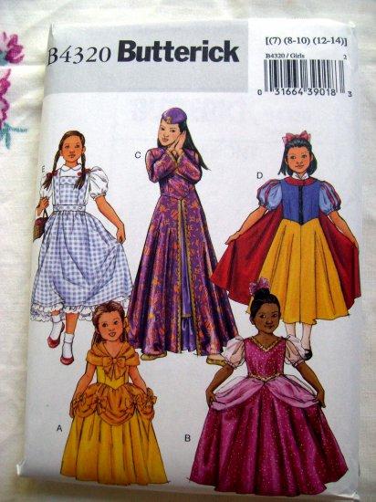 SOLD! Butterick Pattern # B 4320 UNCUT Girls Child Costume Size 7 8 10 12 14