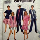 Simplicity Pattern # 8184 UNCUT Misses Pants Shorts Skirt Jacket Scarf Sizes Petite Small Medium