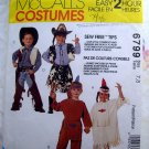 McCall's Pattern #6799 UNCUT Child's (Boy / Girl) Costume Cowboy Cowgirl American Indian Size 7  8