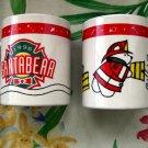 Vintage 1996 Dayton Hudson Santa Bear Mugs Fireman Design