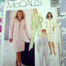 McCall's Pattern # 2594 UNCUT Misses Lined Jacket, Top, Pants & Skirt Sizes 26 28 30 32