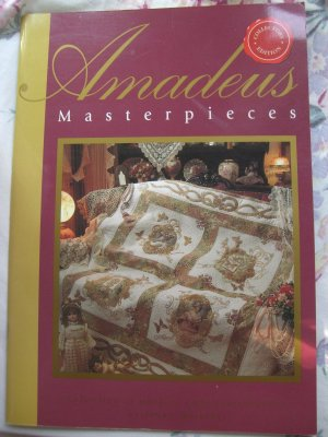 RARE Amadeus Masterpieces Machine Embroidery Quilts Instruction Book