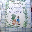 Grandma Remembers Blank Recipe Collection Cookbook