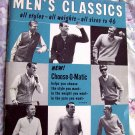 Men's Classics Knit Sweaters ~ Knitting Instructions Booklet ~ Choose-O-Matic Collectible