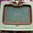 Rare Porcelain Picture Frame ~ Each man's life touches so many It's a Wonderful Life