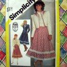 Simplicity Pattern # 5491 UNCUT Misses Western Skirt Jacket Size 6 /Small  ~ Vintage Gunne Sax