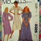 McCalls Pattern # 8325 UNCUT Dress (Long or Short) Size 10