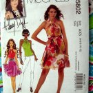 McCalls Pattern # 5802 UNCUT Misses Dress Halter Top Sash Size 4 6 8 10 12