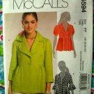 McCalls Pattern # 5594 UNCUT Misses Lined Jackets Size 16 18 20 22