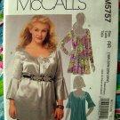 McCalls Pattern # 5757 UNCUT Misses /Woman's Tunic / Top 18 20 22 24