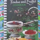 Vintage Cookbook The Garden Club Recipes Fondue & Buffet Circa 1972