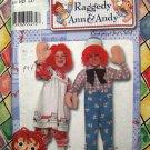 Simplicity Pattern # 9375 UNCUT Costume Classic Raggedy Ann & Andy Child Costume Size  3 4 5 6 7 8