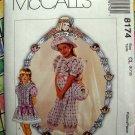 McCall's Dorothy Dear Pattern # 8174 UNCUT Girl's Dress Size 6 7 8