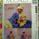 McCalls's Pattern # 3890 UNCUT Infant (Baby) Polar Fleece Jumpsuit Blanket Hat Size Small Med Lg XL