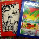 Ship to Shore Virgin Islands Charter Yacht Recipes Cookbook Vol I & II Lot of 2