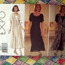 Butterick Pattern # 3301 UNCUT Misses  Dress & Long Vest Overlay Size 14 16 18