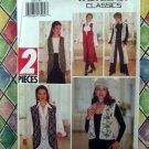 Butterick Pattern # 3156 UNCUT Misses / Misses Petite VEST Size XS Small Medium Long or Short