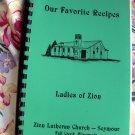 Fall Creek Wisconsin Zion Lutheran Church Cookbook 1980's