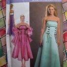 Simplicity Pattern # 4687 UNCUT Prom Formal Long Short Dress Gown Size 6 8 10 12