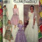 Simplicity Pattern # 7062 UNCUT 1990 Misses Wedding Dress Prom Gown Long Short Size 8 10 12 14