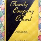 Vintage 1936 Food for Family Company and Crowd Cookbook ~ DeBoth