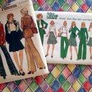 Two Vintage Pattern Simplicity 7070 & Vogue 8752 Misses Size 10 Pants Jacket Skirt