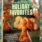 Food & Wine HOLIDAY FAVORITES Cookbook