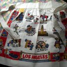 Rare Vintage Los Angeles Souvenir Apron Cactus Cloth Near Mint! LA CA California