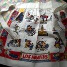 Rare Vintage Los Angeles Souvenir Apron Cactus Cloth Near Mint! LA CA California
