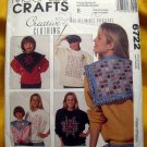 McCall's Pattern # 6722  UNCUT Creative Clothing SNIP-SNIP-Cut Away Technique Instructions