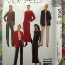 McCalls Pattern # 2432 UNCUT Misses Unlined Jacket Pants Skirt STRETCH KNITS ONLY Size 16 18 20