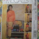 Easy McCalls Pattern # 5143 UNCUT Misses Jacket Top Skirt Pants Size 6 8 10 12