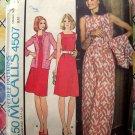 1975 McCalls Pattern # 4507 UNCUT Misses Dress Jacket  Size Large